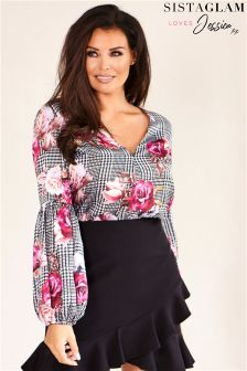 Jessica Wright Fluted Long Sleeve Blouse