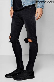 Boohoo Man Super Skinny Ripped Knee Jeans