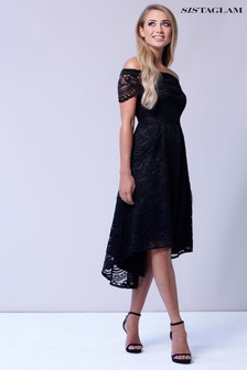 Sistaglam Lace Bardot Dress