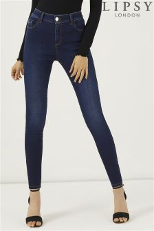 Lipsy Regular Length Rinse Wash High Rise Skinny Jeans