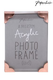 Paperchase Corner Acrylic 5x3.5 Inch Photo Frame