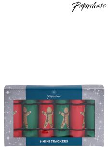 Paperchase Gingerbread Mini Christmas Crackers - Box Of 6