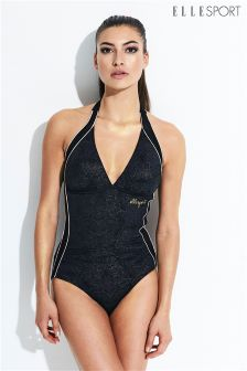 Elle Sport Mesh Panel Swimsuit
