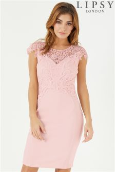 Lipsy Lace Appliqué Detail Bodycon Dress