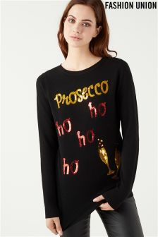 Fashion Union Novelty Ho Ho Ho Jumper