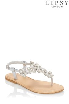 Lipsy Flower Pearl Diamanté Sandals
