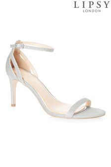 Lipsy Stardust Glitter Barely There Sandals