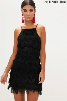 PrettyLittleThing Fringed Dress