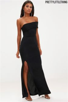 PrettyLittleThing One Shoulder Fishtail Maxi Dress