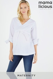 Mamalicious Maternity V neck Top