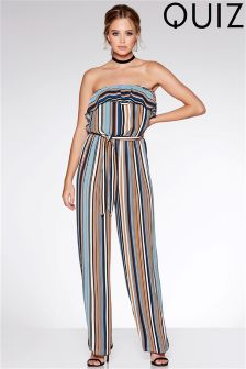 Quiz Stripe Strapless Jumpsuit