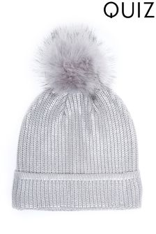 Quiz Metallic Pom Hat