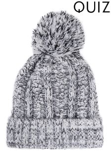 Quiz Marl Knitted Pom Hat