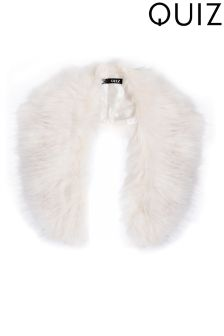 Quiz Faux Fur Collar
