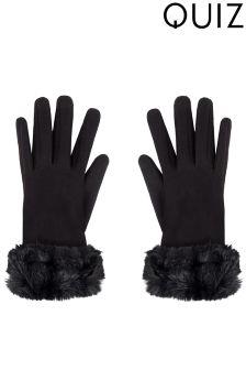Quiz Faux Fur Cuff Gloves