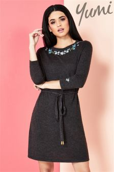 Yumi Embroidered Jumper Dress