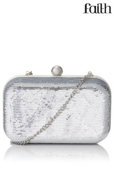 Faith Sequin Clutch Bag
