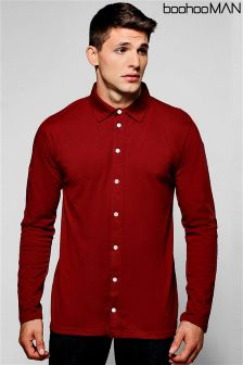 Boohoo Man Long Sleeve Jersey Shirt