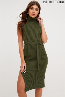 PrettyLittleThing High Neck Jumper Dress