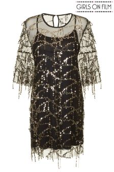 Girls On Film Sequin Shift Dress