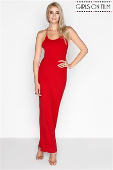 Girls On Film Bodycon Maxi Dress