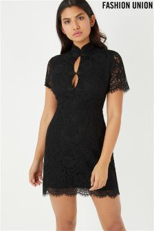 Fashion Union Lace Bodycon Dress