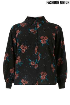 Fashion Union Curve Floral Shirt