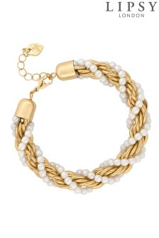 Lipsy Pearl Twist Chain Bracelet