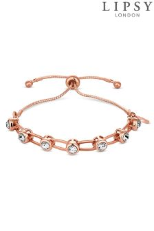 Lipsy Crystal Link Toggle Bracelet