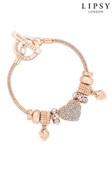 Lipsy Crystal Pave Charm Gift Bracelet