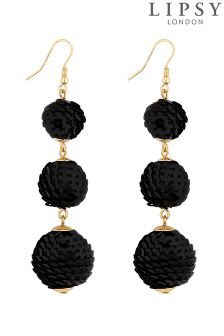 Lipsy Sequin Ball Graduated Drop Earring