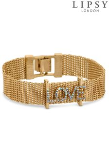 Lipsy Crystal Love Bracelet