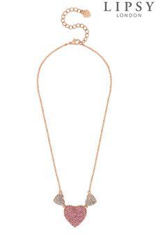 Lipsy Crystal Pave Heart Necklace
