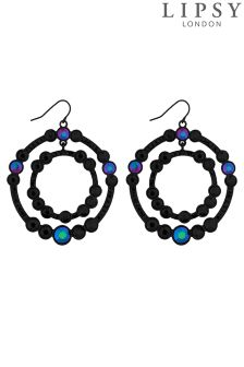 Lipsy Rainbow Crystal Double Circle Earring