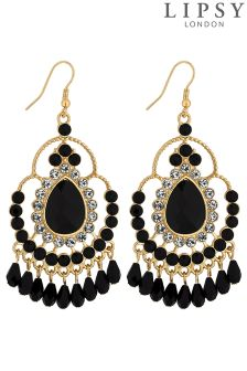 Lipsy Crystal And Bead Drop Earring