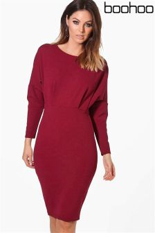 Boohoo Batwing Midi Dress