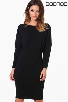Boohoo Jessica Batwing Midi Dress