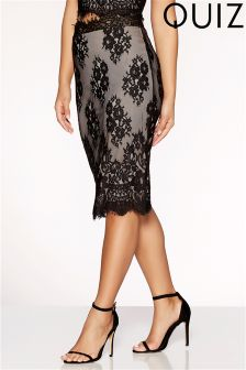 Quiz Lace Scallop Midi Skirt