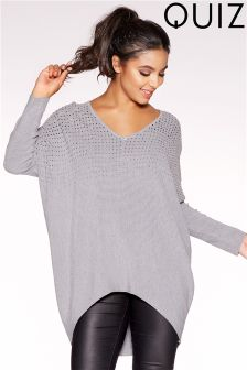 Quiz Knit Batwing Embellished Jumper