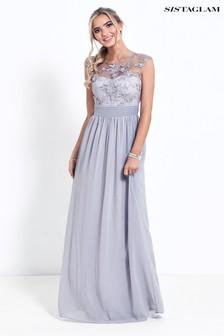 Sistaglam Beaded Maxi Dress