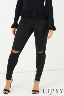 Lipsy Ripped Knee Skinny Jeans