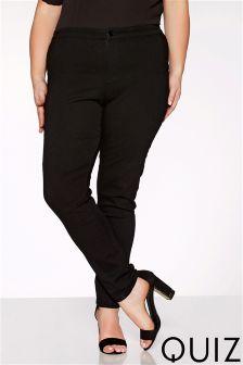 Quiz Curve Denim High Waist Button Up Jeans