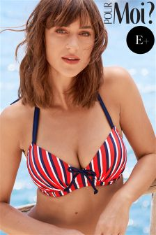 Pour Moi Hamptons Padded Halter Underwired Top E+