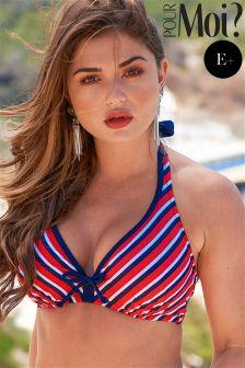 Pour Moi Hamptons Hidden Triangle Underwired Bikini Top E+