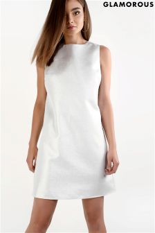 Glamorous Metallic Sleeveless Shift Dress