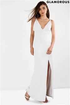 Glamorous Sleeveless V neck Bodycon Maxi Dress