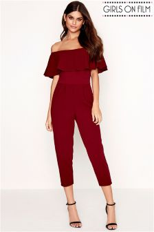 Girls On Film Bardot Jumpsuit