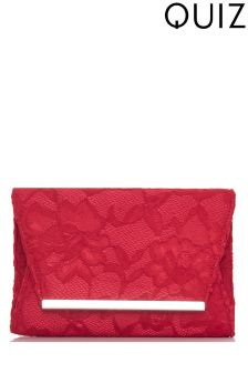 Quiz Lace Clutch Bag