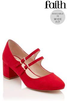 Faith Wide Fit Block Heel Sandals