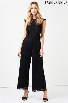 Fashion Union Lace Jumpsuit